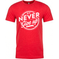 WE NEVER GIVE UP - T-SHIRT HOMMES - TAILLE L