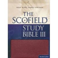 Anglais, Bible, New King James Version, Scofield Study Bible III -  NKJV, Red Bonded Leather, Indexed