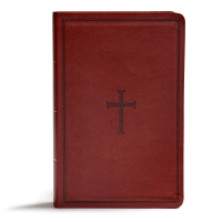 Anglais Bible KJV Reference Giant Print Brown leathertouch - avec onglets